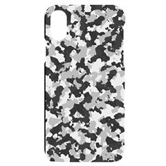 Winter Forest Camo Pattern Iphone X/xs Black Uv Print Case