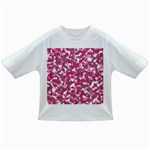 Pink camo pattern Infant/Toddler T-Shirts Front