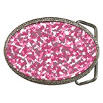 Pink camo pattern Belt Buckles Front