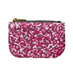 Pink camo pattern Mini Coin Purse Front