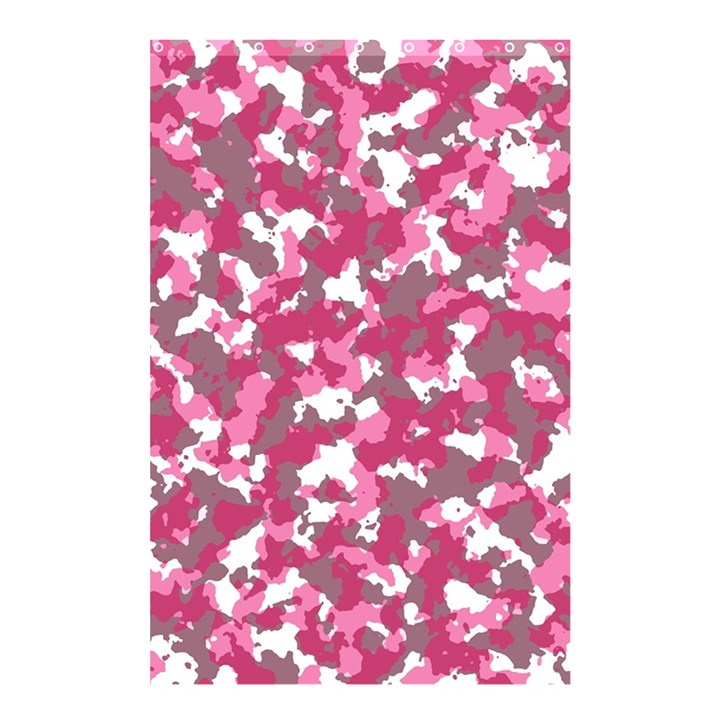 Pink camo pattern Shower Curtain 48  x 72  (Small)