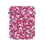Pink camo pattern Apple iPad 2/3/4 Protective Soft Cases Front