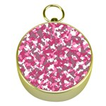 Pink camo pattern Gold Compasses Front
