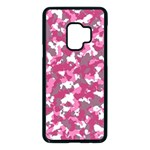 Pink camo pattern Samsung Galaxy S9 Seamless Case(Black) Front
