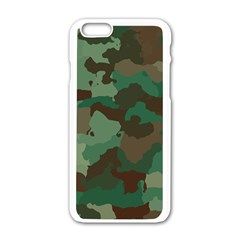 Forest Camo Pattern Iphone 6/6s White Enamel Case