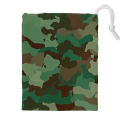 Forest Camo Pattern Drawstring Pouch (3xl)