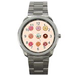 Donuts Sport Metal Watch Front