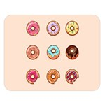 Donuts Double Sided Flano Blanket (Large)  80 x60  Blanket Front