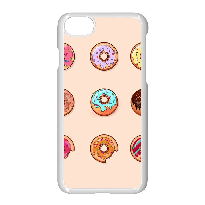 Donuts iPhone 7 Seamless Case (White)