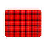 Red buffalo plaid Double Sided Flano Blanket (Mini)  35 x27  Blanket Back