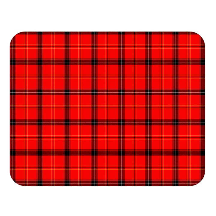 Red buffalo plaid Double Sided Flano Blanket (Large)
