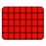 Red buffalo plaid Double Sided Flano Blanket (Large)   Blanket Back