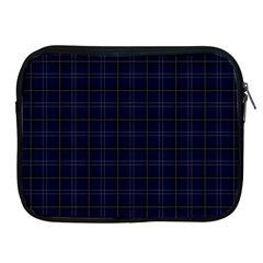 Navy Blue Buffalo Plaid Apple Ipad 2/3/4 Zipper Cases by goljakoff