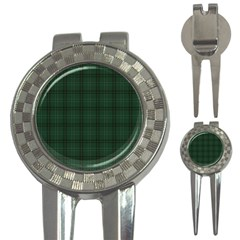 Green Buffalo Plaid 3 In 1 Golf Divots by goljakoff