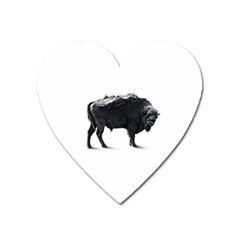 American Bison Heart Magnet by goljakoff