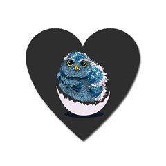 Low Poly Owl Heart Magnet by goljakoff