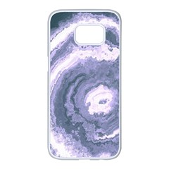Agate Slice Samsung Galaxy S7 Edge White Seamless Case by goljakoff
