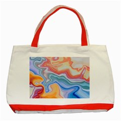 Colorful Agate Classic Tote Bag (red) by goljakoff