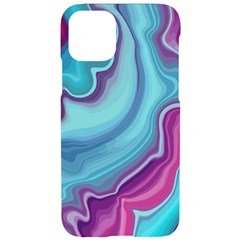 Blue And Puple Agate Iphone 11 Pro Black Uv Print Case