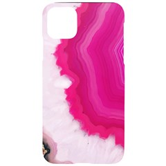 Pink Agate Slice Iphone 11 Pro Max Black Uv Print Case
