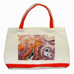 Abstract Agate Slice Classic Tote Bag (red) by goljakoff