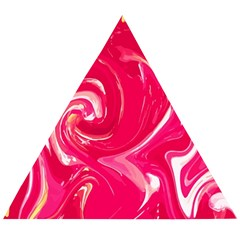 Liquid Red Marble Wooden Puzzle Triangle