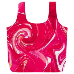 Liquid Red Marble Full Print Recycle Bag (xxl)
