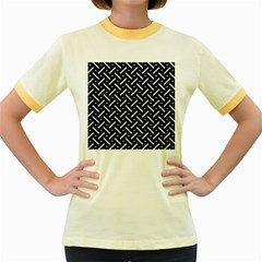 Geometric Pattern Design Repeating Eamless Shapes Women s Fitted Ringer T-shirt by Vaneshart