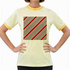 Christmas Color Stripes Women s Fitted Ringer T-shirt by Vaneshart