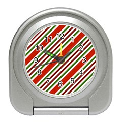 Christmas Color Stripes Travel Alarm Clock by Vaneshart