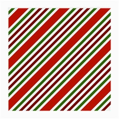 Christmas Color Stripes Medium Glasses Cloth (2 Sides) by Vaneshart