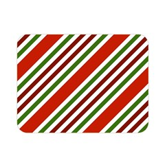 Christmas Color Stripes Double Sided Flano Blanket (mini)
