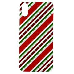 Christmas Color Stripes Apple Iphone Xs Tpu Uv Case