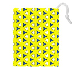 Pattern Yellow Pattern Texture Seamless Modern Colorful Repeat Drawstring Pouch (3xl)