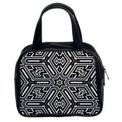 Grid Pattern Backdrop Seamless Design Geometric Patterns Line Classic Handbag (two Sides) by Vaneshart