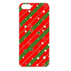 Christmas Paper Star Texture Iphone 5 Seamless Case (white)