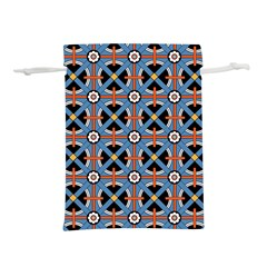 Pattern Weave Background Blue Red Black Lightweight Drawstring Pouch (m)