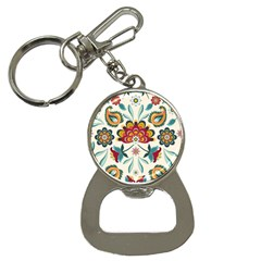 Baatik Print  Bottle Opener Key Chain by designsbymallika