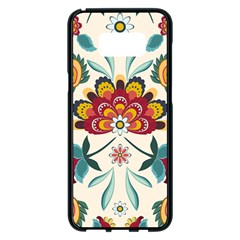 Baatik Print  Samsung Galaxy S8 Plus Black Seamless Case
