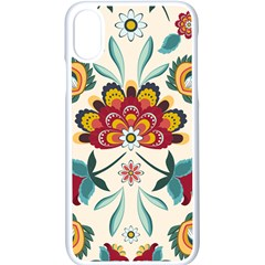 Baatik Print  Iphone X Seamless Case (white)