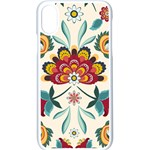 Baatik Print  iPhone X Seamless Case (White) Front