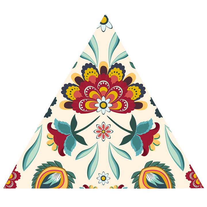 Baatik Print  Wooden Puzzle Triangle