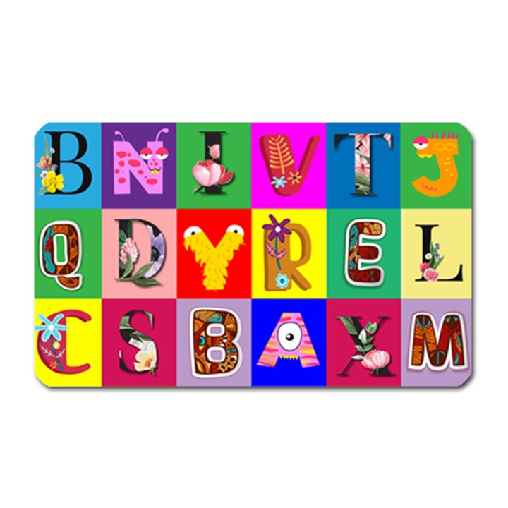 Alphabet Pattern Magnet (Rectangular)