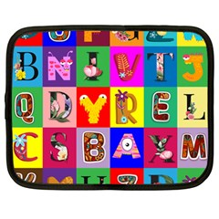 Alphabet Pattern Netbook Case (large)