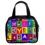 Alphabet Pattern Classic Handbag (Two Sides) Front