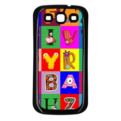 Alphabet Pattern Samsung Galaxy S3 Back Case (black)