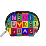 Alphabet Pattern Accessory Pouch (Small) Front