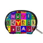 Alphabet Pattern Accessory Pouch (Small) Back