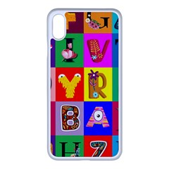 Alphabet Pattern Iphone Xs Max Seamless Case (white)