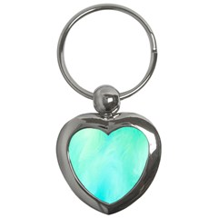 Blue Green Shades Key Chain (heart)